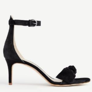 Ann Taylor Erica Suede Bow Sandals